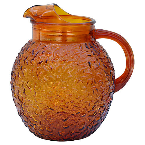 Anchor Hocking Amber Glass Pitcher