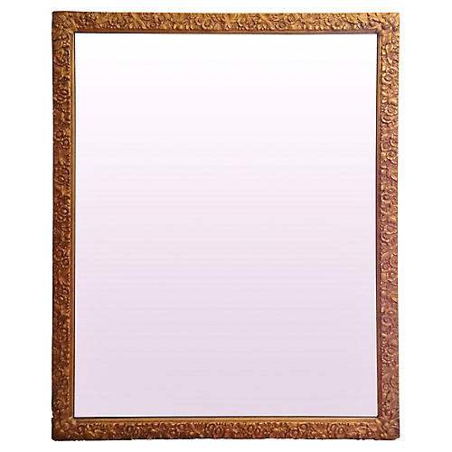 Rectangular Carved Giltwood Wall Mirror