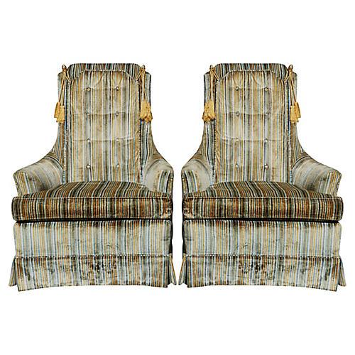 1975 Clayton Marcus Club Chairs - a Pair