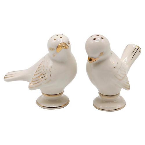 Porcelain Dove Salt & Pepper Shakers