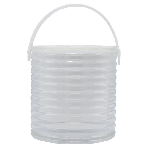 Midcentury Ribbed Lucite Ice Bucket