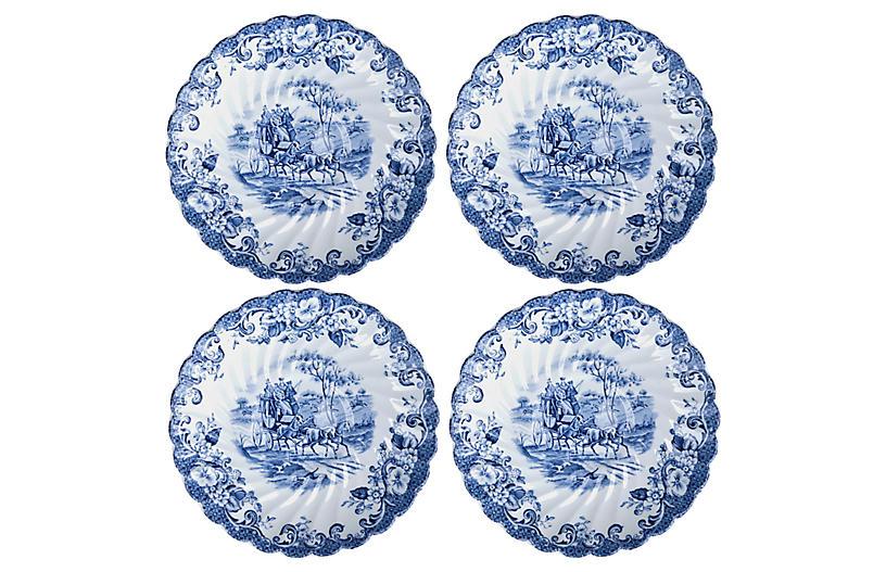 English Ironstone Saucers - Set of 4