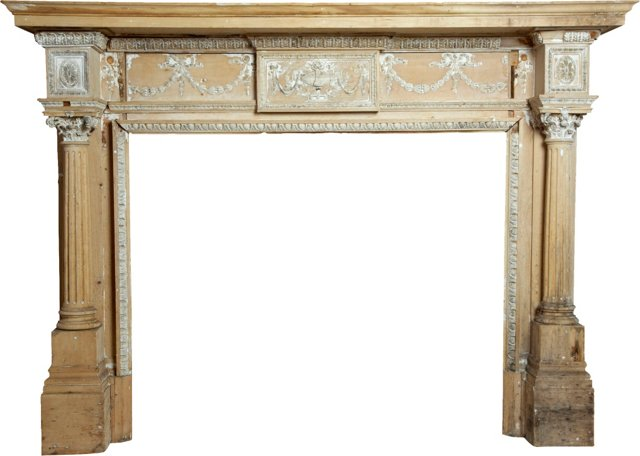 Antique Architectural Fireplace Mantel
