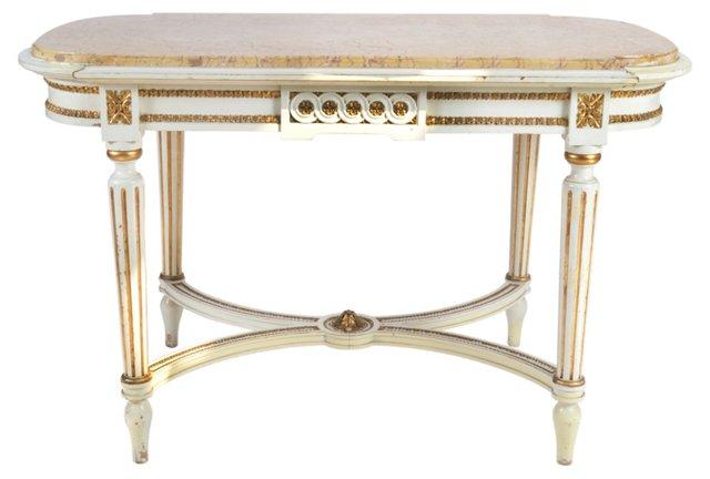 Swedish Tea Table w/ Marble Top
