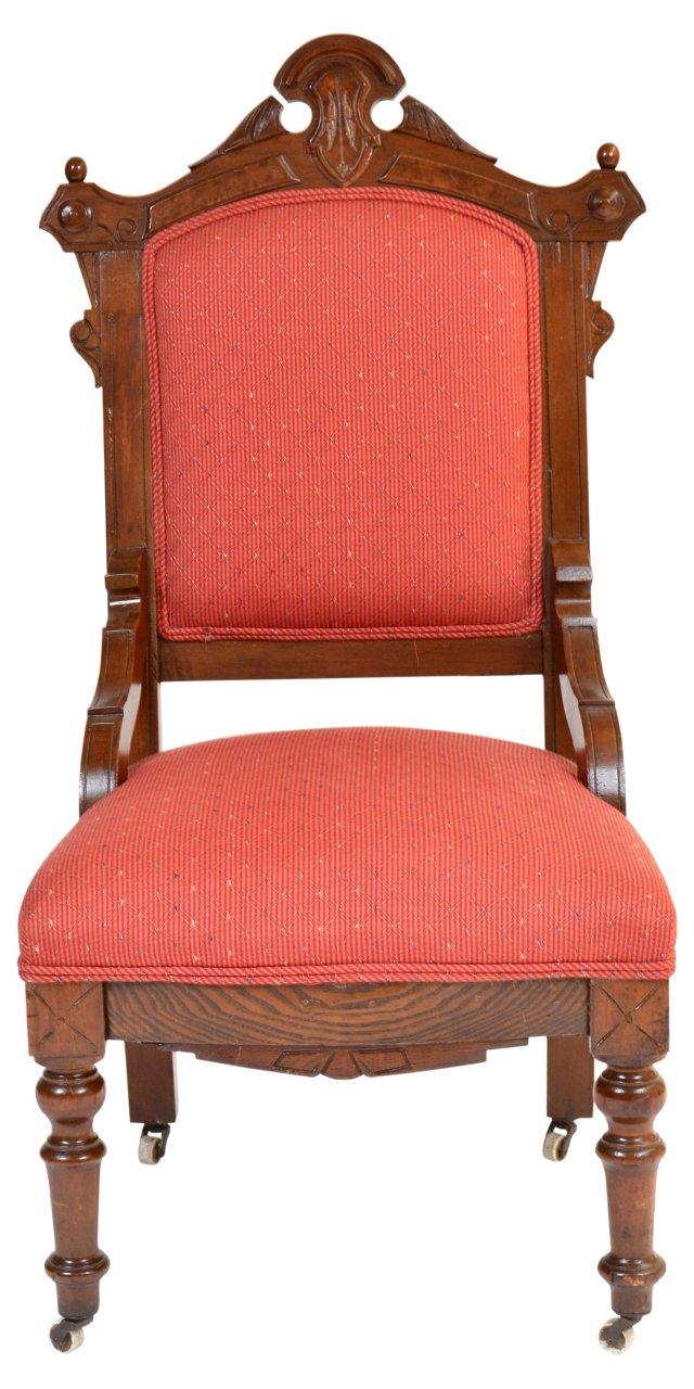 19th-C. Walnut Side  Chair
