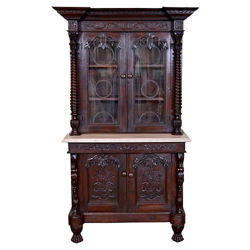 19th-C. Scottish Cupboard Cabinet