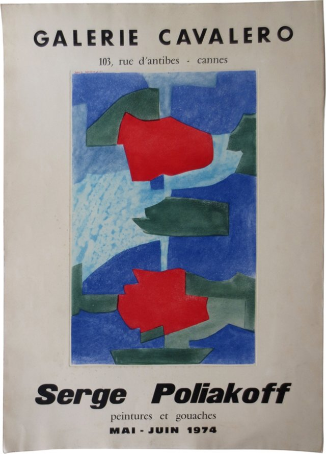 Serge Poliakoff Cannes Poster, 1974