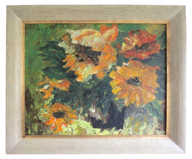 Still Life w/ Sunflowers