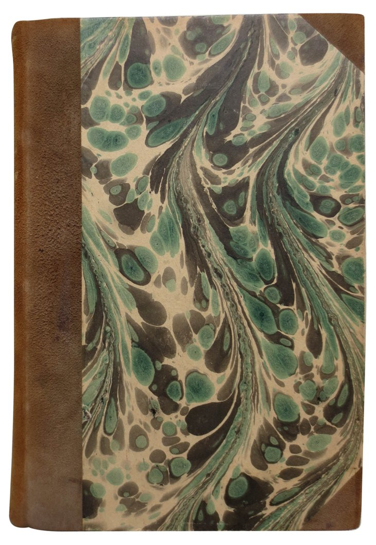 '40s Novel with Marbled Boards