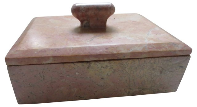 Carved Marble Box