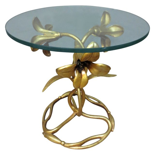 Arthur Court Gilt Lily-Motif Table