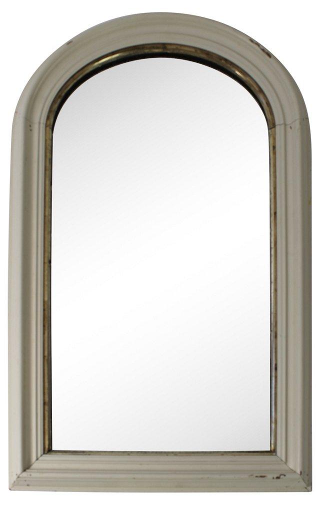 White & Giltwood Mirror