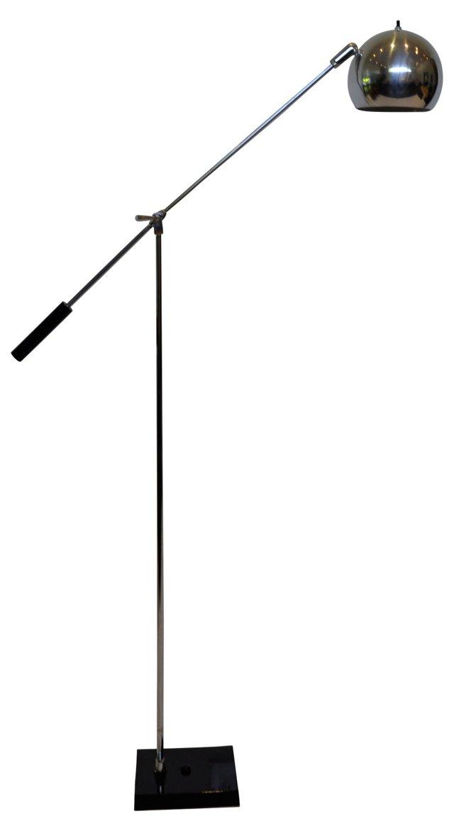 Sonneman Style Chrome Eyeball Floor Lamp