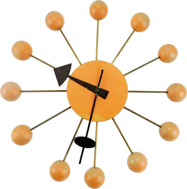 Atomic-Era Howard Miller Wall Clock