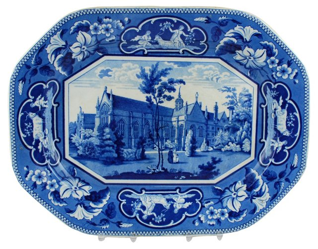 19C Staffordshire Ridgway Platter Oxford