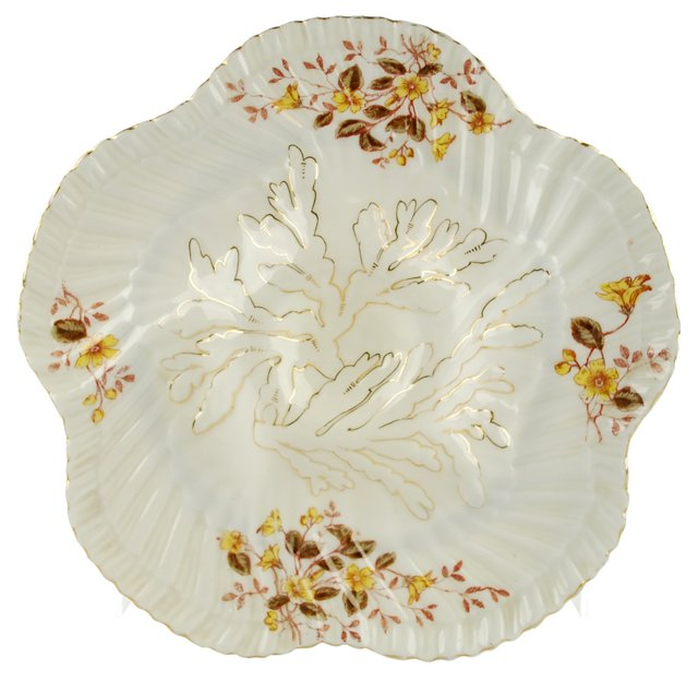 Gilt Porcelain Oyster Wall Plate