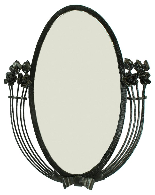 Art Deco French Fer Forge Mirror