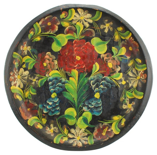Hand-Painted Mexican Wall Batea