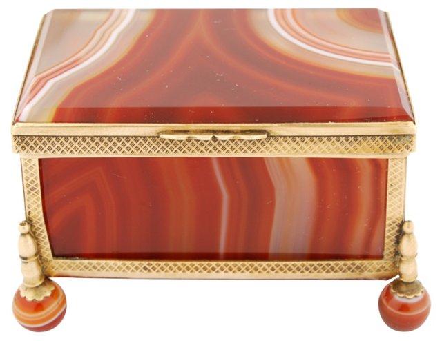 Agate & Brass Box