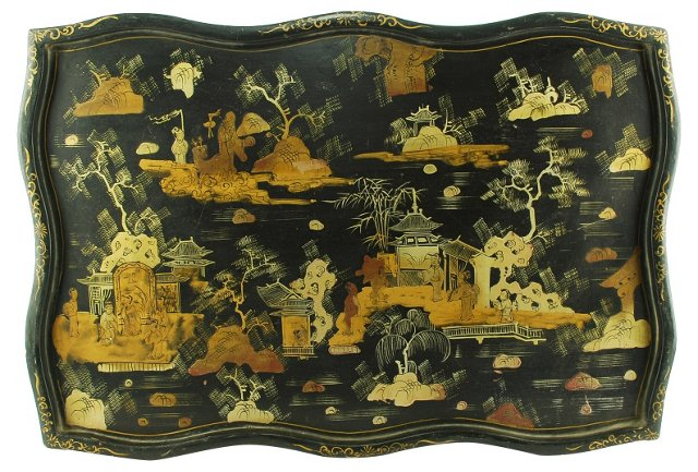 Black Lacquer Wall Tray