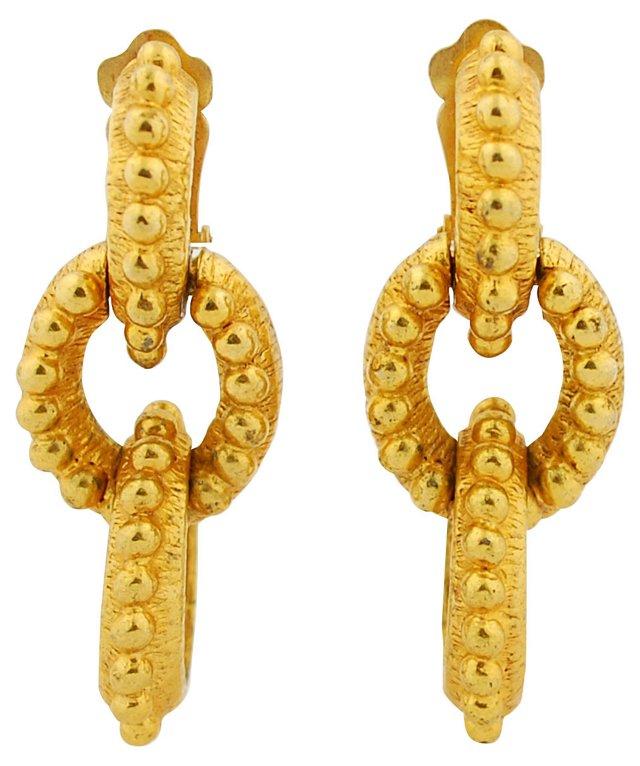 KJL Gilt Link Earrings