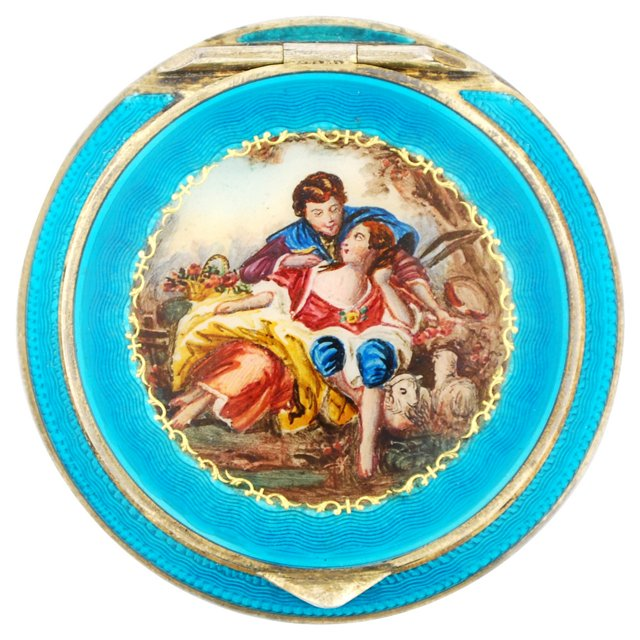 Austrian Sterling Enameled Compact