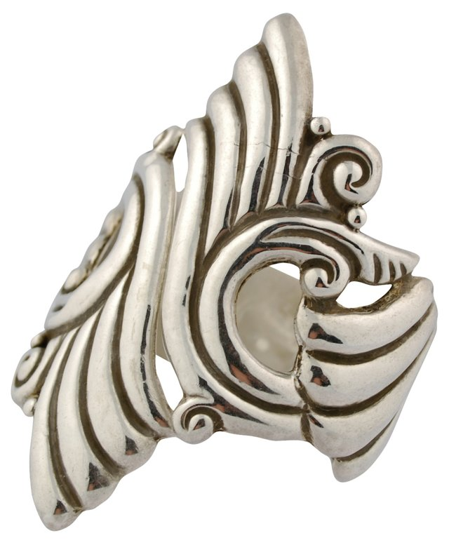 Mexican Sterling Silver Clamper Bracelet