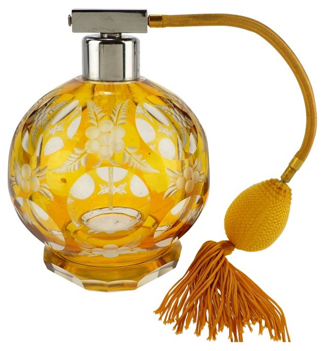Amber Glass Perfume Bottle