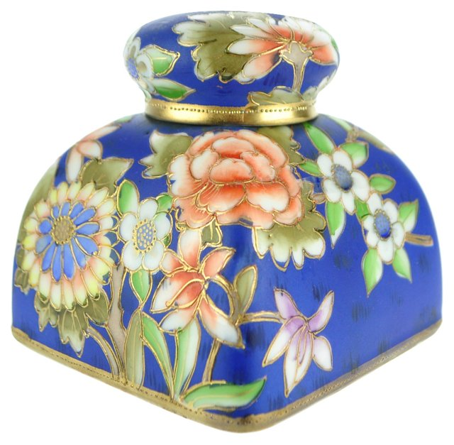 Antique Noritake Hand-Painted Inkwell