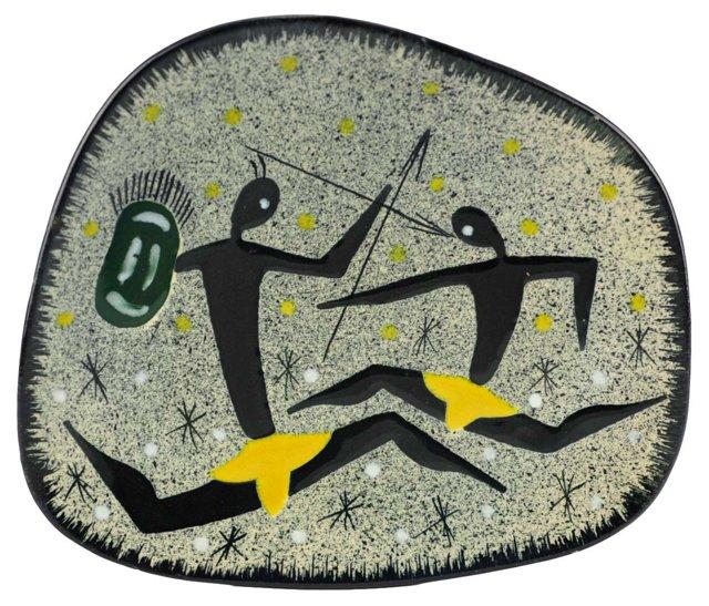 Mid-Century Modern Warrior Wall Plate