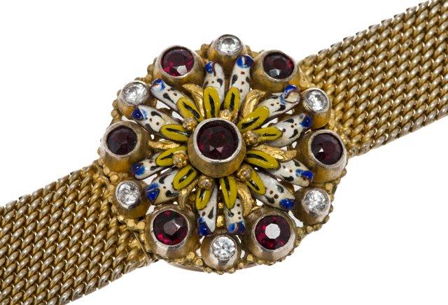 Hungarian Vermeil & Garnet Bracelet
