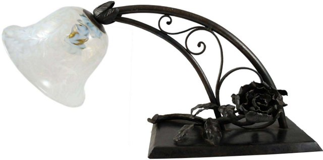 1920s French Iron Lamp