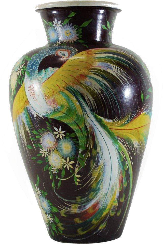 Burnished Mexican Floor Vase