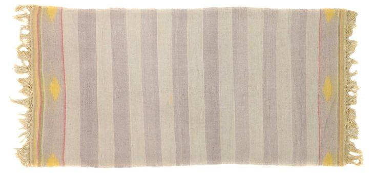 "Striped Dhurrie, 6' x 2'10"""