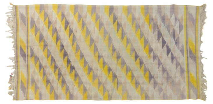 """Dhurrie, Checkers, 5'8"""" x 3'1"""""""