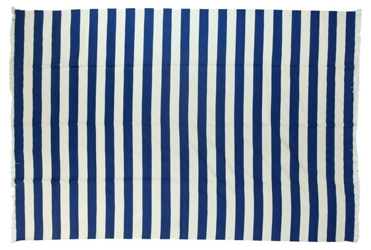 Blue & White  Dhurrie, 9' x      6'