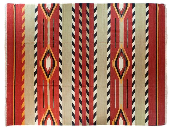 Native American Dhurrie, 9'  x 12'