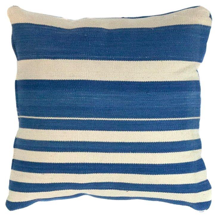 Blue & White     Dhurrie  Pillow