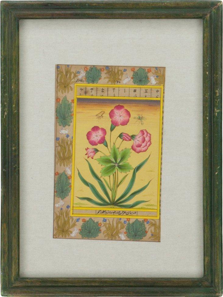 Light Pink Flowers, Manuscript