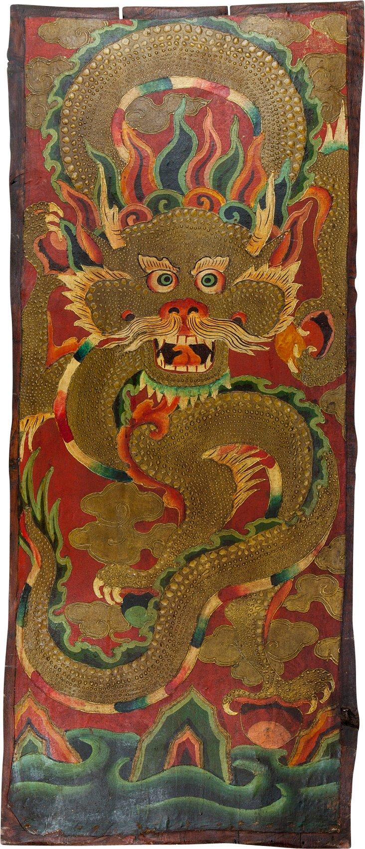 Tibetan Panel, Dragon Above Water