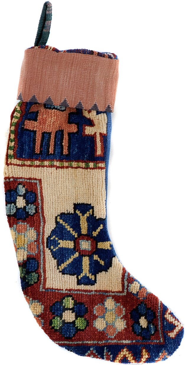 Kazak Stocking w/ Blue Back
