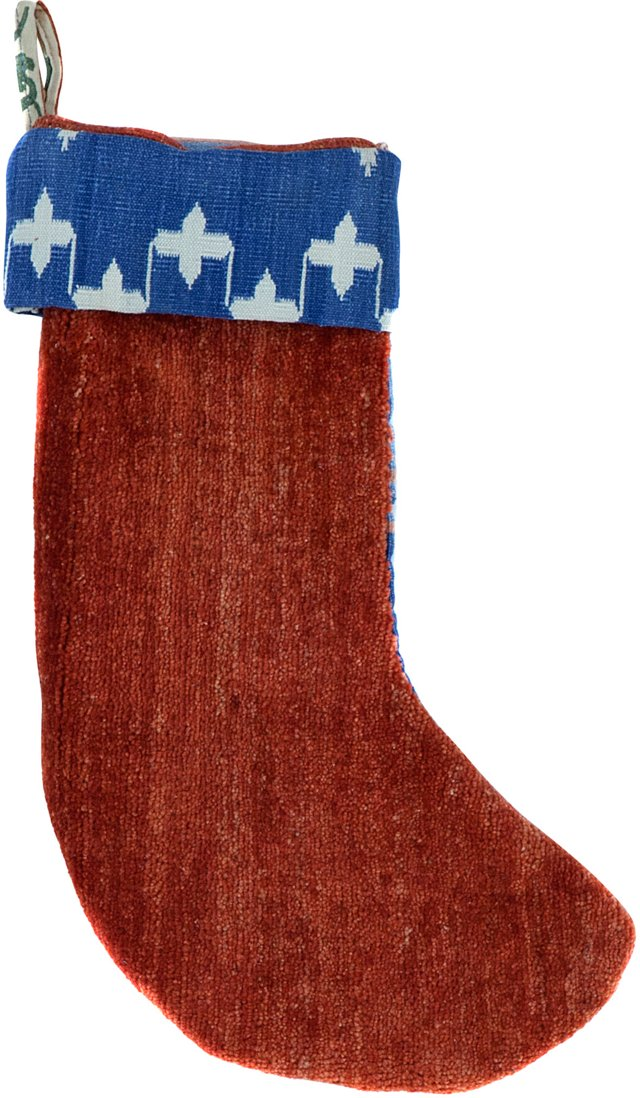 Red Kazak Stocking w/ Blue Back