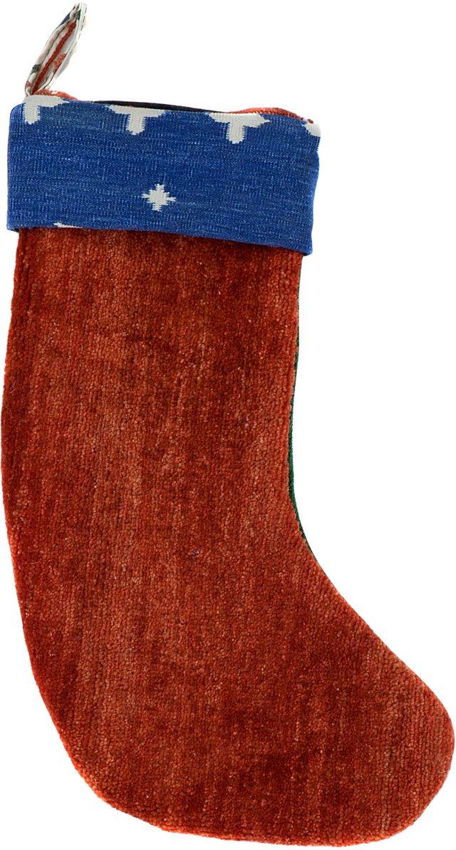 Red Kazak & Green Stocking