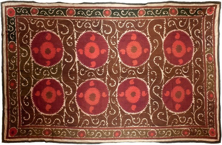 Brown Uzbek Suzani