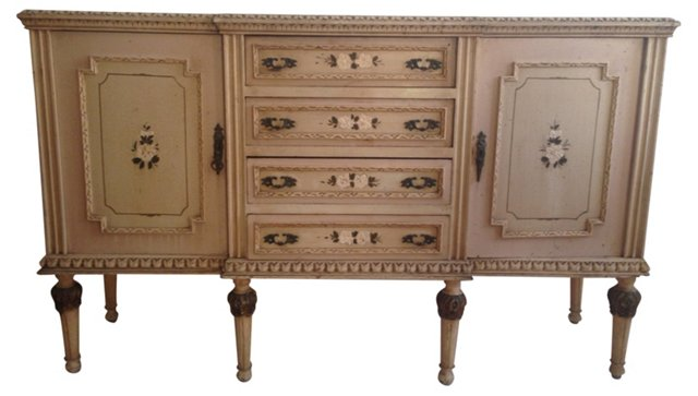 French Hand-Painted   Sideboard