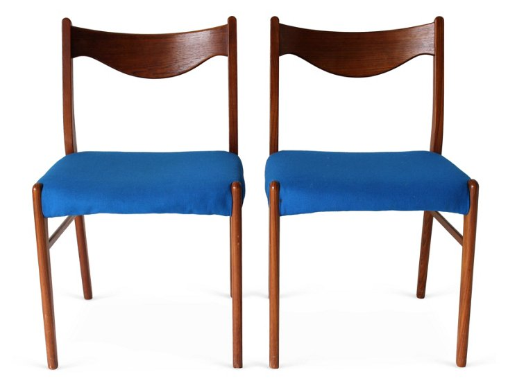 Danish Modern Chairs, Pair