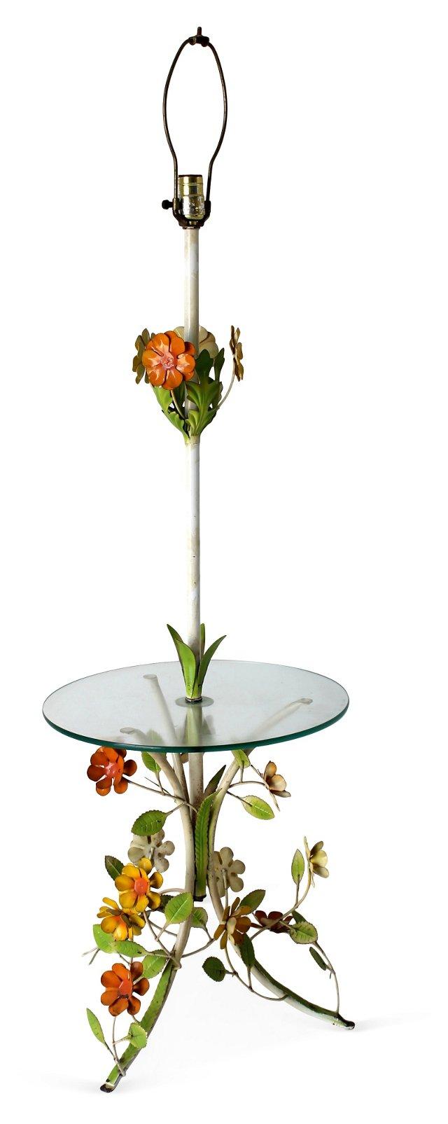 Italian Tole Floor Lamp