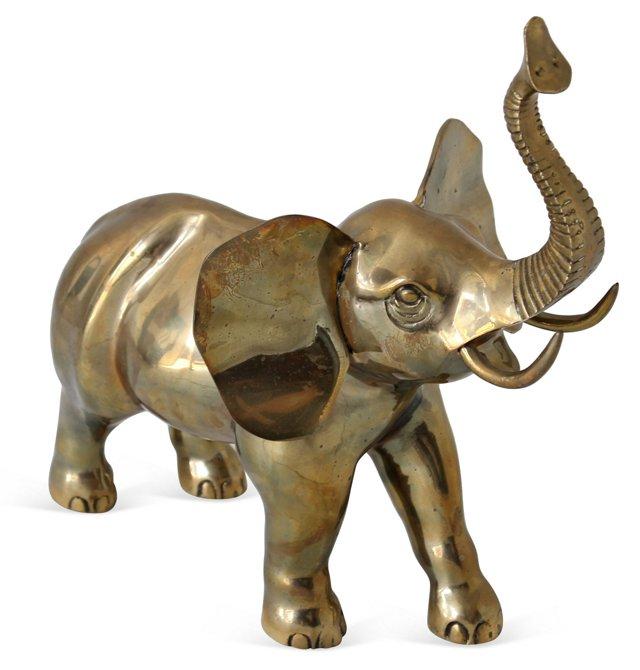 Oversize Brass Elephant