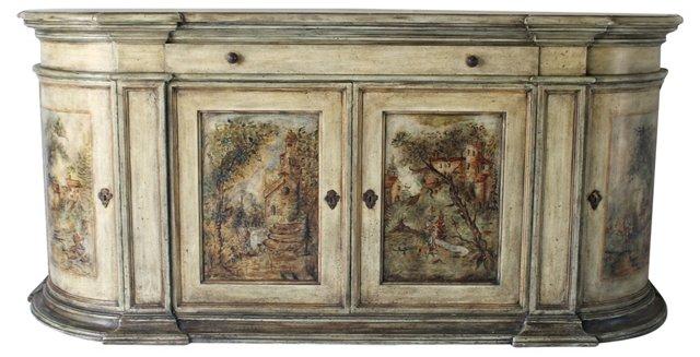 Italian Painted Sideboard