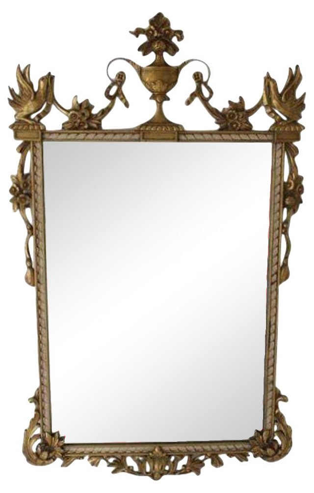 Giltwood Bird Mirror by Milch & Sons